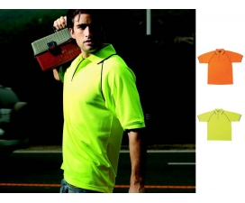 Hi-Vis Breezeway Safety Polo