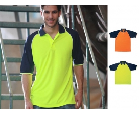 Hi-Vis Raglan Sleeve Safety Polo