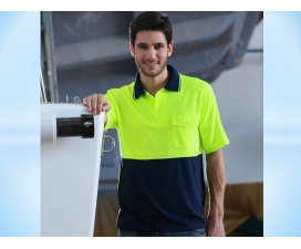 Hi-Vis Short Sleeve Safety Polo