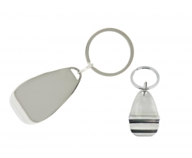 Chrome Bottle Opener key Ring