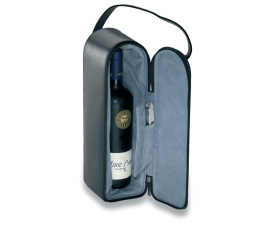 Split Leather Wine Carrier
