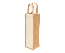 Single Bottle Jute Wine Carrier