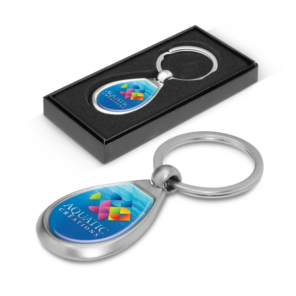 Drop Metal Key Ring