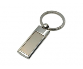 Oblong Chrome Key Ring