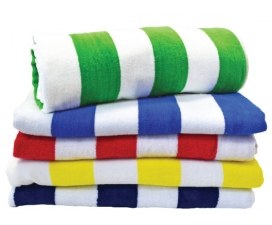 Striped Terry Velour Towel